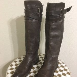FRYE BROWN LEATHER RIDING BOOTS 9 B